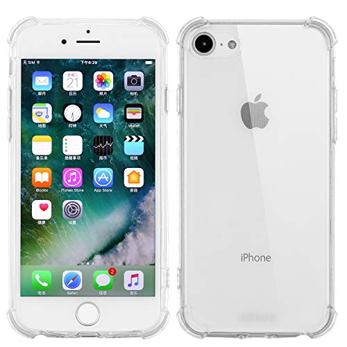 Ulikeus iPhone 7/8 Case Clear Slim Design Shockproof Drop Protection Soft Anti Yellow Protective Phone Back Cover