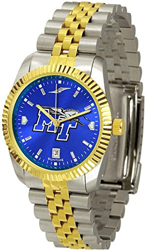 Middle Tennessee State MTSU NCAA Mens 23Kt Executive Watch (Raiders Executive Watch)