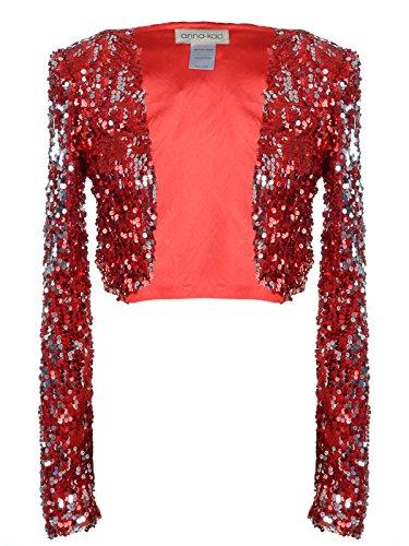 Anna Kaci Glitter Sequins Cropped Blazers