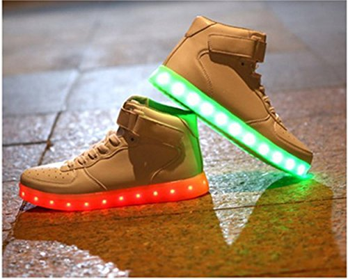 [Present:kleines Handtuch]JUNGLEST® 7 Farben LED Kinder, Jungen, Mädchen führte leuchten Trainer Sneakers Turnschuhe Sportschuh c43
