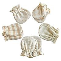 Scratch Free Newborn Mitten Organic Cotton Mitts Baby Glove for Infant 0-6 Mo...