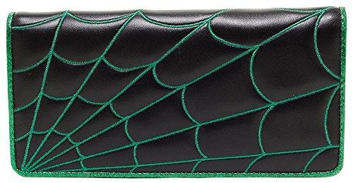 sourpuss-spiderweb-wallet-black-green