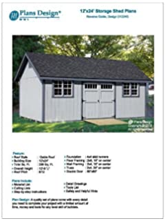 How To Build Guide 12u0027 X 24u0027 Shed Plans, Material List And Step