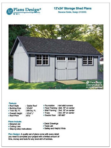 How To Build Guide 12 X 24 Shed Plans Material List And