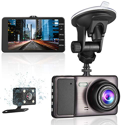 MYPIN 1080P Front and Rear Dual Lens Dash Cam with 4.0