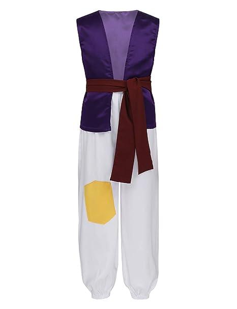 TiaoBug 3Piezas Disfraz Príncipe de Aladino Lámpara Niños Infántil ...