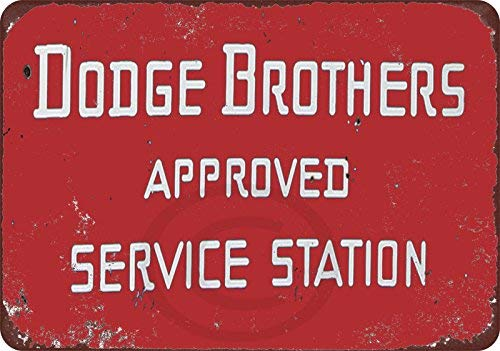 Dodge Brothers Cars Approved Service Station Reproduction Metal Sign 8 x 12