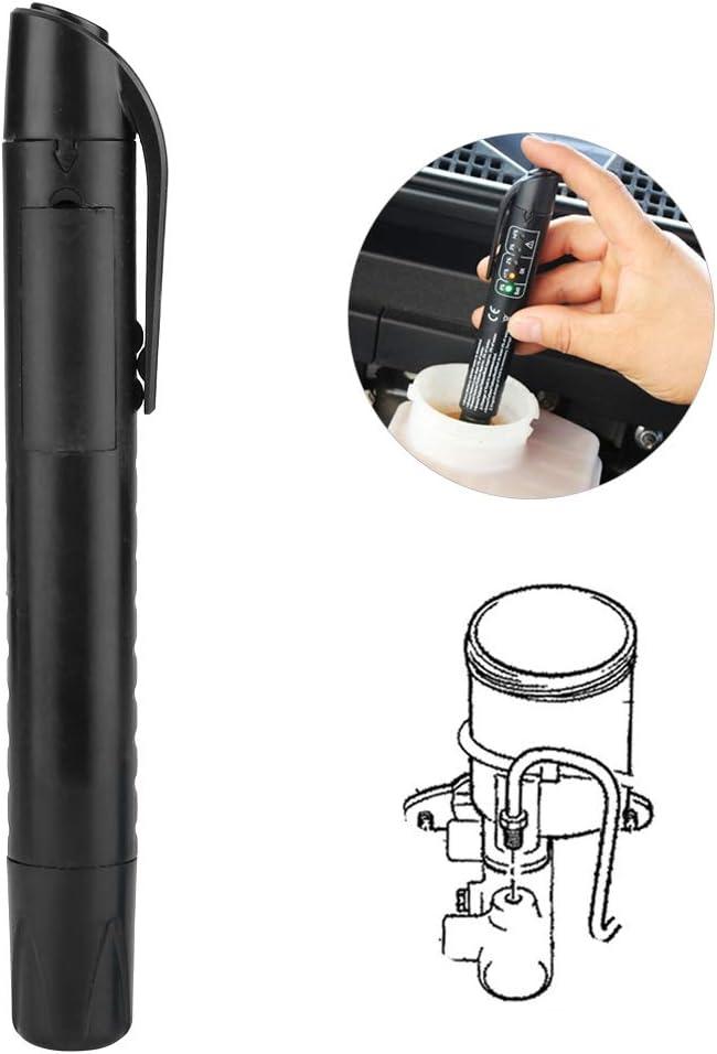 Ohne Strom 5 LED Diagnoseanzeige Auto Bremsfl/üssigkeit Tester Stift F/ür Auto Reparaturen Werkzeuge Fahrzeug Auto Automotive Testing Tool EBTOOLS Universal Bremsfl/üssigkeit Tester Automotive