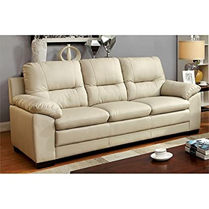 Cool Amazon Com Furniture Of America Pallan Leather Tufted Sofa Ibusinesslaw Wood Chair Design Ideas Ibusinesslaworg