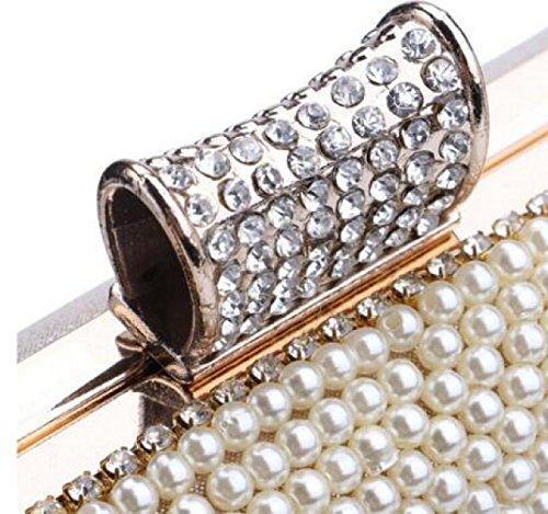 Clutch De Lujo De Las Mujeres De Diamantes Rose Cena Bolsa De Gama Alta De Encargo A Mano Bolso De La Tarde Bolso De La Cartera Paquete De Vestir Black