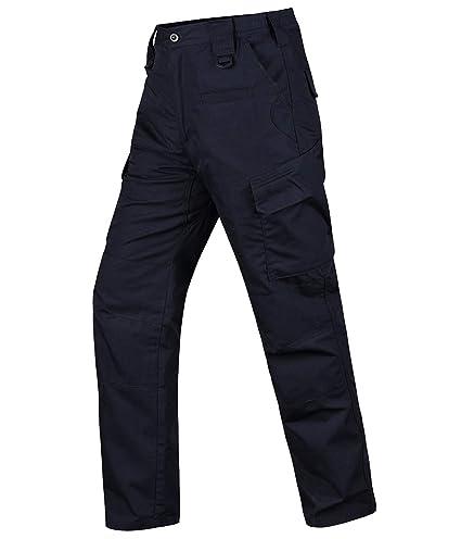 HARD LAND Pantalones Tácticos Impermeables Hombre Ripstop Pantalones de Trabajo Cargo con Cintura Elástica para Trekking
