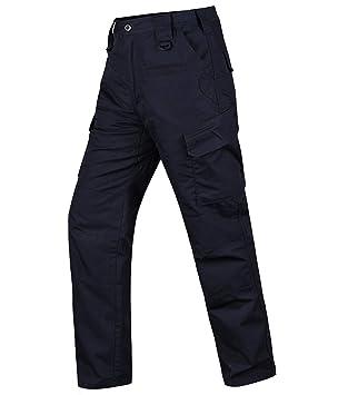 HARD LAND Pantalones Tácticos Impermeables Hombre Ripstop Pantalones de Trabajo Cargo con Cintura Elástica para Trekking Militares: Amazon.es: Deportes y ...
