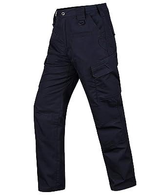 7c9870b22bb5 HARD LAND Men's Waterproof Tactical Pants Ripstop Cargo Work Pants with  Elastic Waist for Hunting Fishing