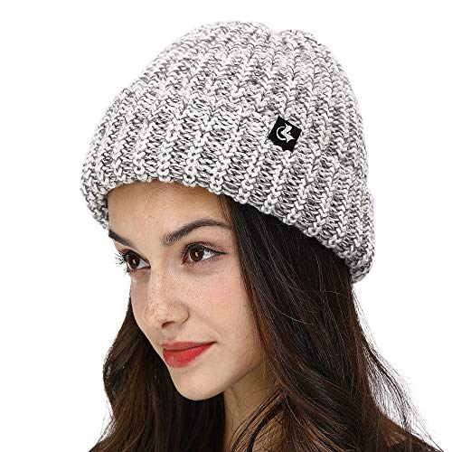 (LETHMIK Fishscale Knit Winter Slouchy Beanie Hat,Mens&Womens Thick Warm Knitted Beanie Snow Ski Cap Grey )