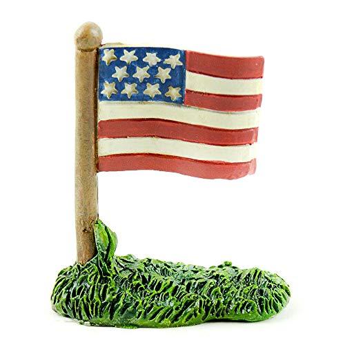 ShopForAllYou Figurines and Statues Fairy Garden Fun Patriotic USA Red White and Blue American Flag Dollhouse (Usa Garden Gnome)