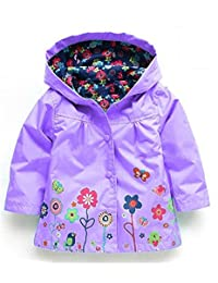 2-6 Years Old Children Coats Baby Girls Boys Raincoat Waterproof Clothes for Kids