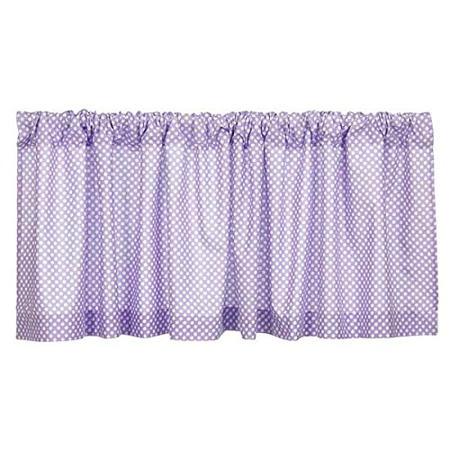 Sweet Potato Fiona Window Valance Micro Dot, Purple/White (Dot Circle Valance)