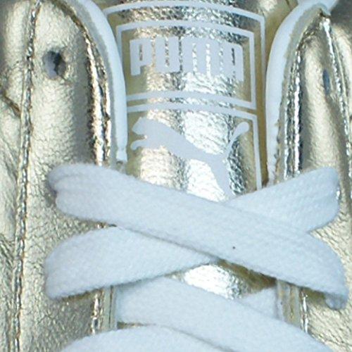 Oro Gold Mujer Zapatillas Vintage Puma Barnett Met la de cuero de FwqzT