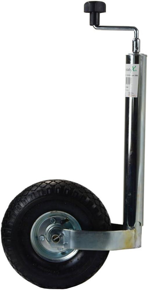 Original Systafex Stützrad Für Pkw Anhänger Voll Verzinkt Anhängerstützrad Luftreifen Mit Stahlfelge Drucklager 200kg 3500kg Auto