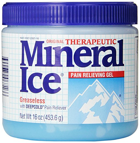 Therapeutic Rubs (Mineral Ice Therapeutic Pain Relieving Gel, 16 Ounce Jar)