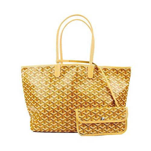 Stylesty Fashion Shopping PU Tote Bag, Designer Shoulder Handbags with Key Ring (Large, Yellow1) ()