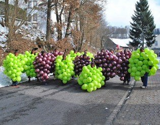 Luftballonkostum Traube Schones Weintraubenkostum In Apfelgrun