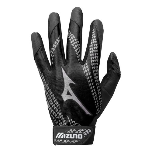 新しい2014ミズノバッティング手袋( 9ユースサイズLittle Leagueティーボールに大人用XXL、3色) B00HQON7X0 Adult XL|ブラック ブラック Adult XL