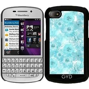 Funda para Blackberry BB Q10 - Patrón De Flores De Encaje Azul by UtArt