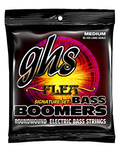 GHS Strings M3045F Nickel Plated Bass Guitar Strings, Medium