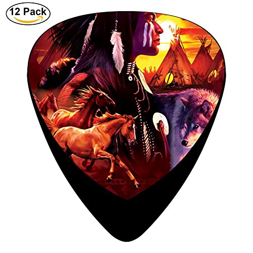 (indian collage Guitar Picks - Celluloid Plectrums for Guitar Bass,12 pack )