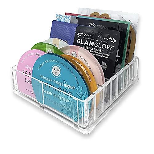 Cozihoma Acrylic Makeup Organizer Jewelry Cosmetic Storage Display Boxes Two Pieces Set