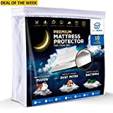 Waterproof Mattress Protector - Premium Waterproof Hypoallergenic Mattress Protector TESTED by KIDS-stop ruin your mattress. Comfortable Cotton Terry Cover For Your Bed. Noiseless, Breathable, Vinyl Free. King Size.