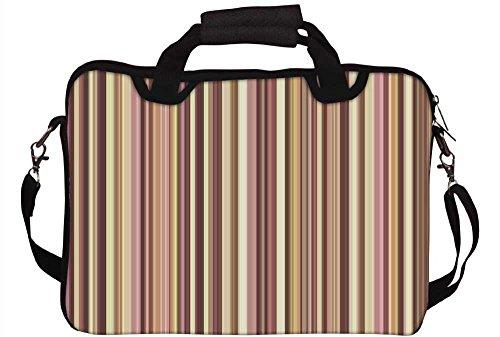 Snoogg Colorful Streifen 30,5cm 30,7cm 31,8cm Zoll Laptop Notebook Computer Schultertasche Messenger-Tasche Griff Tasche mit weichem Tragegriff abnehmbarer Schultergurt für Laptop Tablet PC Ultrabo