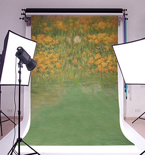 - Lfeey 5x7ft Painted Wildflowers Backdrop Abstract Garden Florets Meadow Photography Background Watercolor Blossom Flowers Spring Scenery Photo Studio Props Vinyl Banner