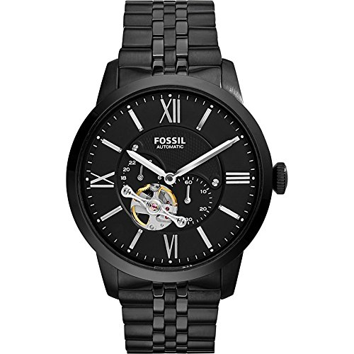 Fossil-Mens-ME3062-Townsman-Mechanical-Stainless-Steel-Watch-with-Black-Link-Bracelet