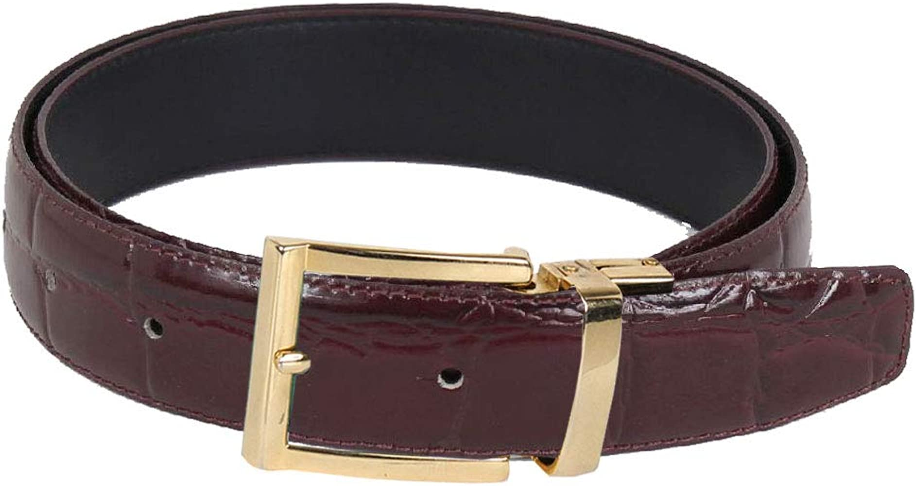 b99ee01074012 Faux Alligator Skin Leather Belt at Amazon Men's Clothing store: