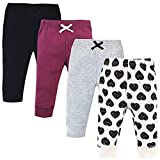 Touched by Nature Unisex Baby Organic Cotton Pants, Heart, 3-6 Months