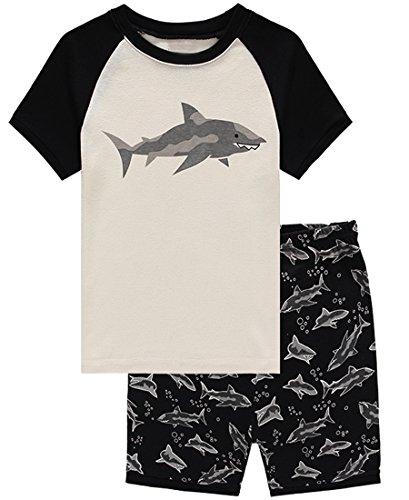 Family Feeling Shark Big Boys Shorts Set Pajamas 100% Cotton Sleepwear Toddler Kids Size 10 (Sleep Boyshorts)