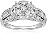 10k White Gold Diamond Engagement Ring (1cttw, I-J Color, I2-I3 Clarity), Size 7