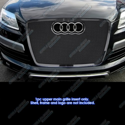 Fits 2007-2009 Audi Q7 Stainless Steel Black Mesh Grille Grill Insert #N19-H73557B APS