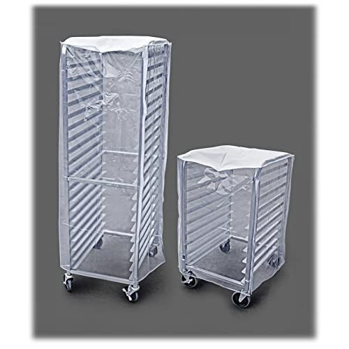 New Star Foodservice 36534 Commercial Sheet Pan Rack Cover, PVC, 10-Tier, 28 x 23 x 33 inch, Clear