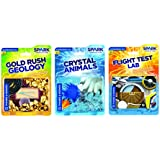Thames and Kosmos STEM Bundle 2 Crystal Animals Flight Test Lab Gold Rush Geology Science Kit