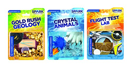 Themse und Kosmos Stiel Bundle 2 Crystal Tiere Flight Test Lab Gold Rush Geologie Science Kit