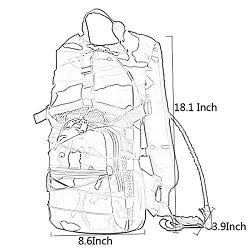 Männer Und Frauen Outdoor-Rucksack Große Kapazität Entlasten Rucksack Multifunktions-Camouflage-Tasche JungleCamouflage