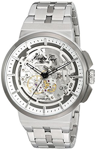 Kenneth Cole New York Men's 'Automatic' Automatic Stainless Steel Dress Watch (Model: 10022315) (Skeleton Kenneth Men Cole Watch)