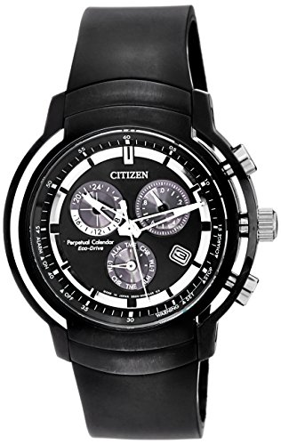 - Citizen Men's Eco-Drive BL5395-00E Black Resin Eco-Drive Watch with Black Dial