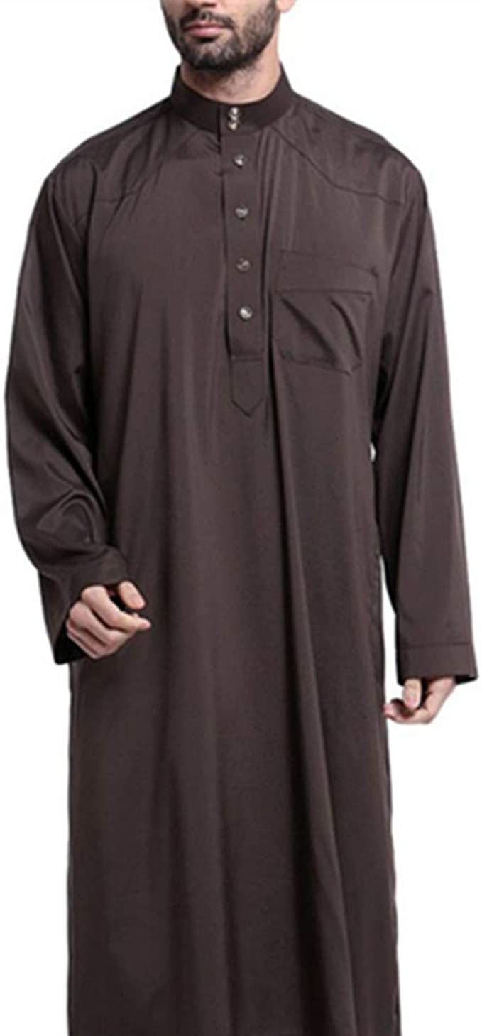 Kaftan para Hombres Ropa Musulmana - Vestido Abaya Dubai Maxi Largo Manga Larga Jalabiya Camisa Arabe (M): Amazon.es: Ropa y accesorios