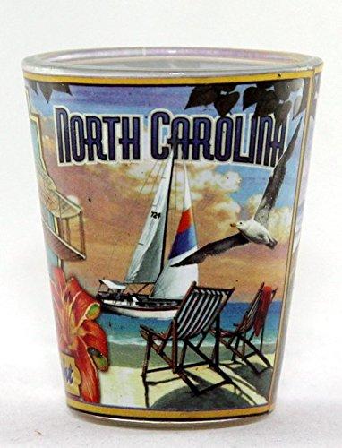 North Carolina State Mural Shot Glass jks