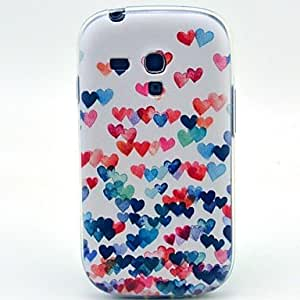 QHY Colorful Heart Pattern Soft Case for Samsung Galaxy S3 Mini I8190