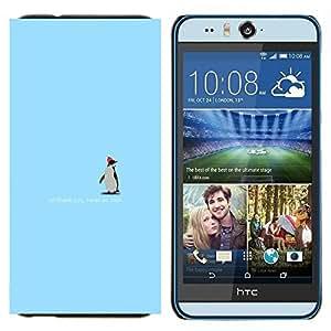 GIFT CHOICE / Teléfono Estuche protector Duro Cáscara Funda Cubierta Caso / Hard Case for HTC Desire Eye M910x // Cute Penguin - Thank You //
